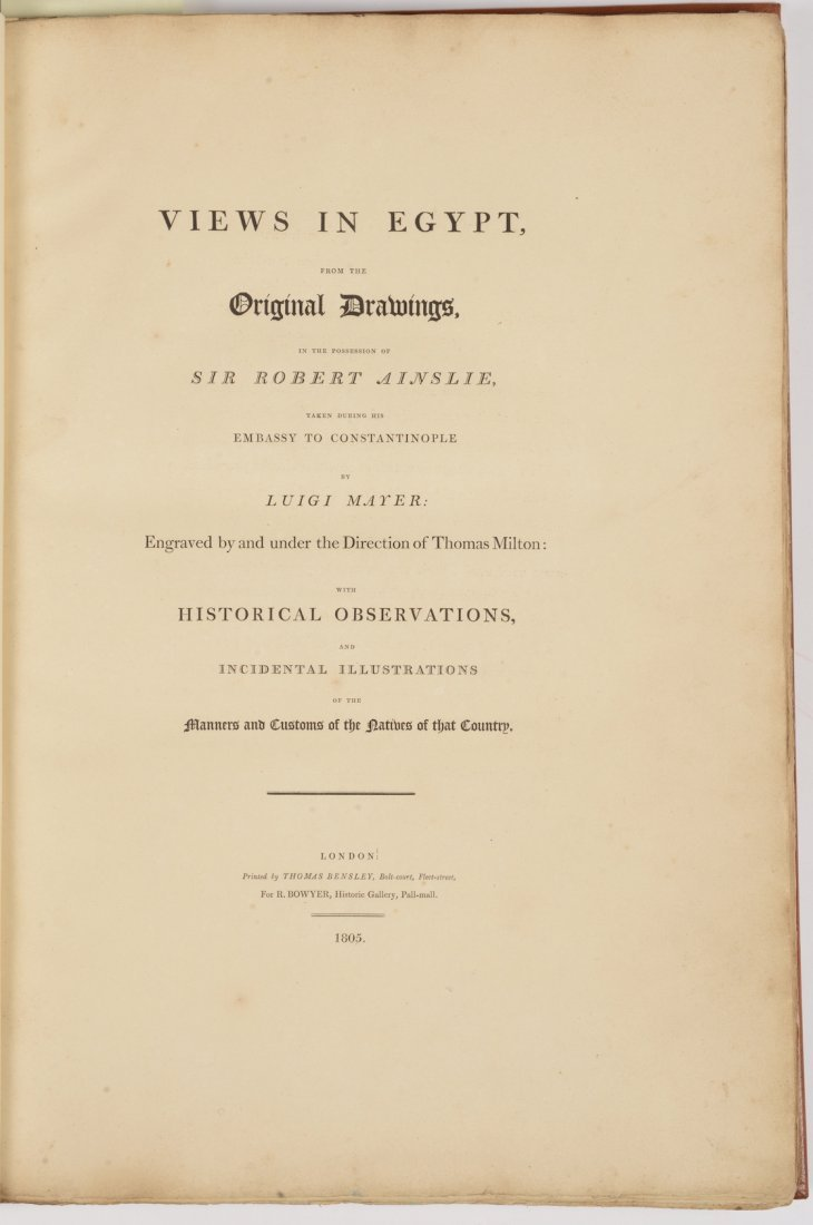 Luigi Mayer, Views in Egypt from the original drawings