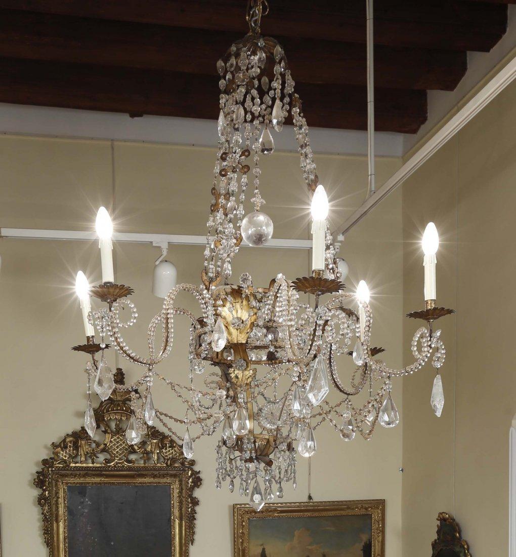 A Louis XIV six-light chandelier