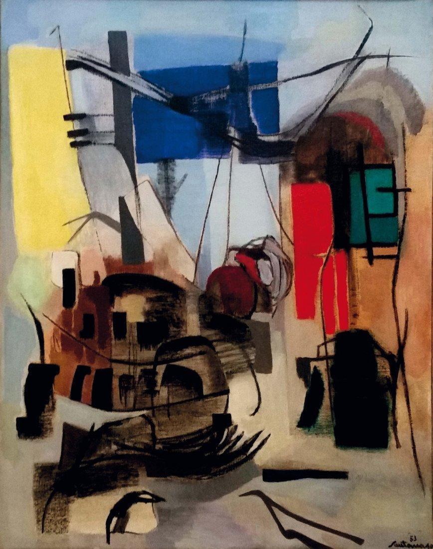 Giuseppe Santomaso (1907-1990), Domenica in officina,