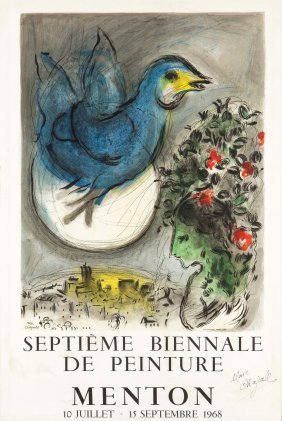 Marc Chagall (1887-1985), L'oiseau Bleu