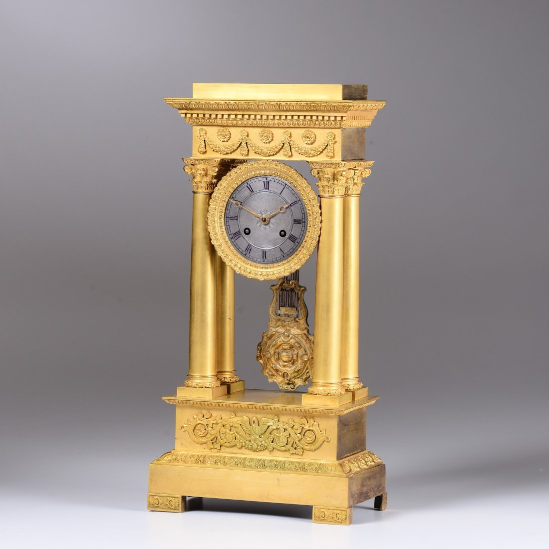 An ormolu portico clock, France, late 19th century - 2