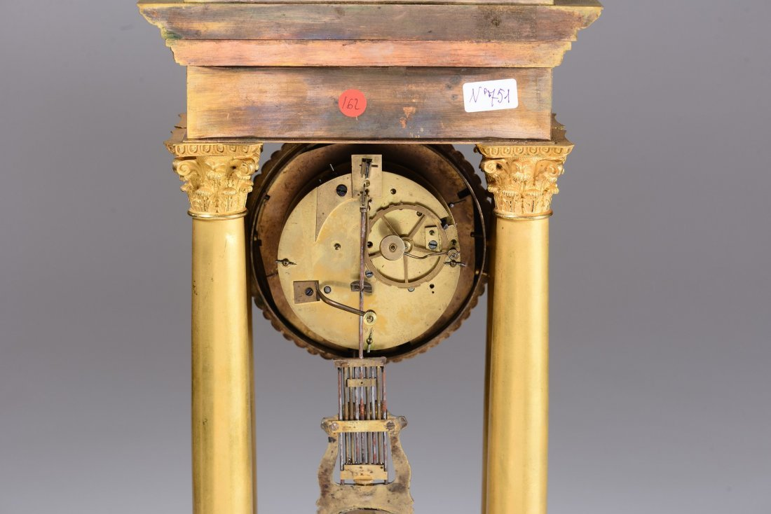 An ormolu portico clock, France, late 19th century - 3