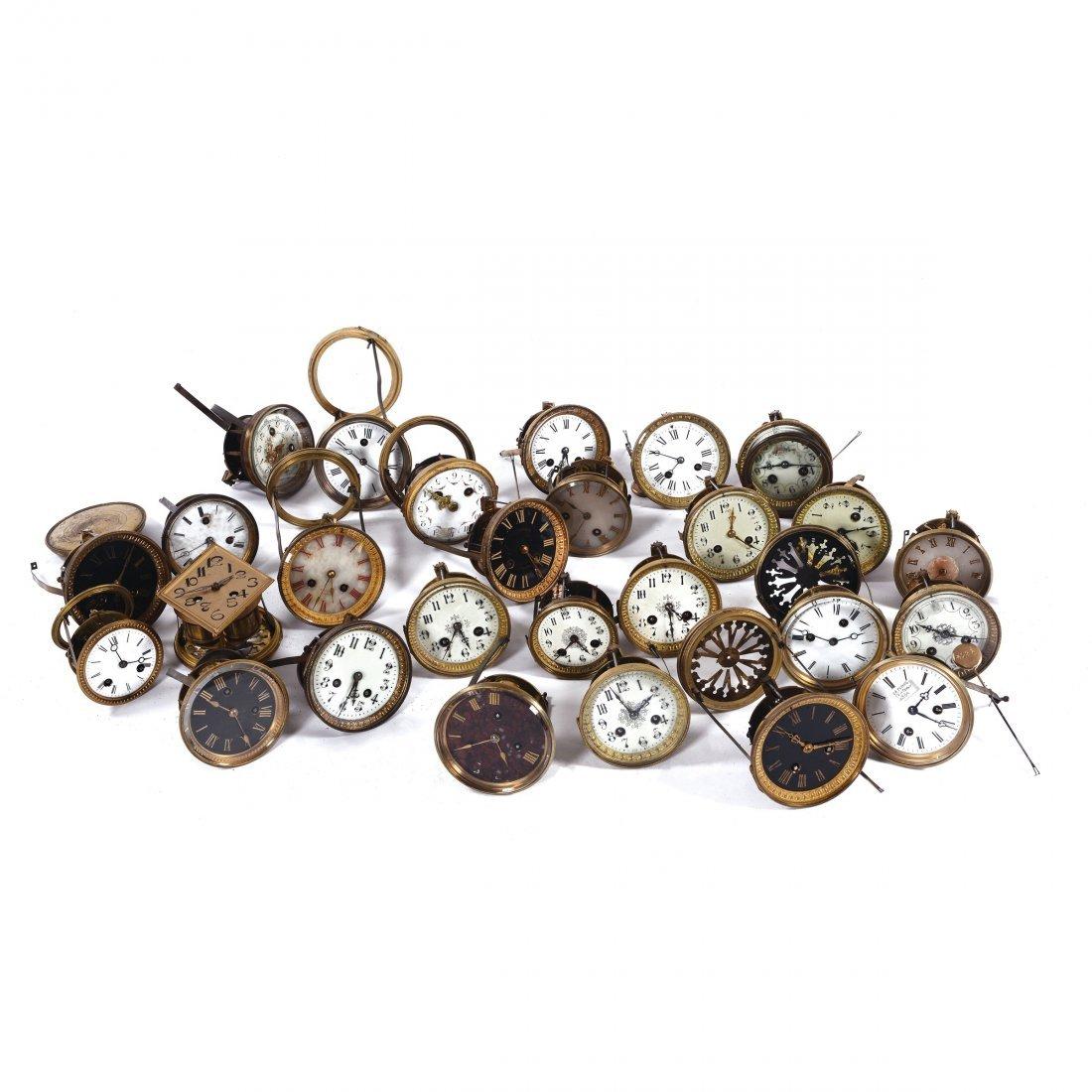 A Lot of 27 clock mechanisms