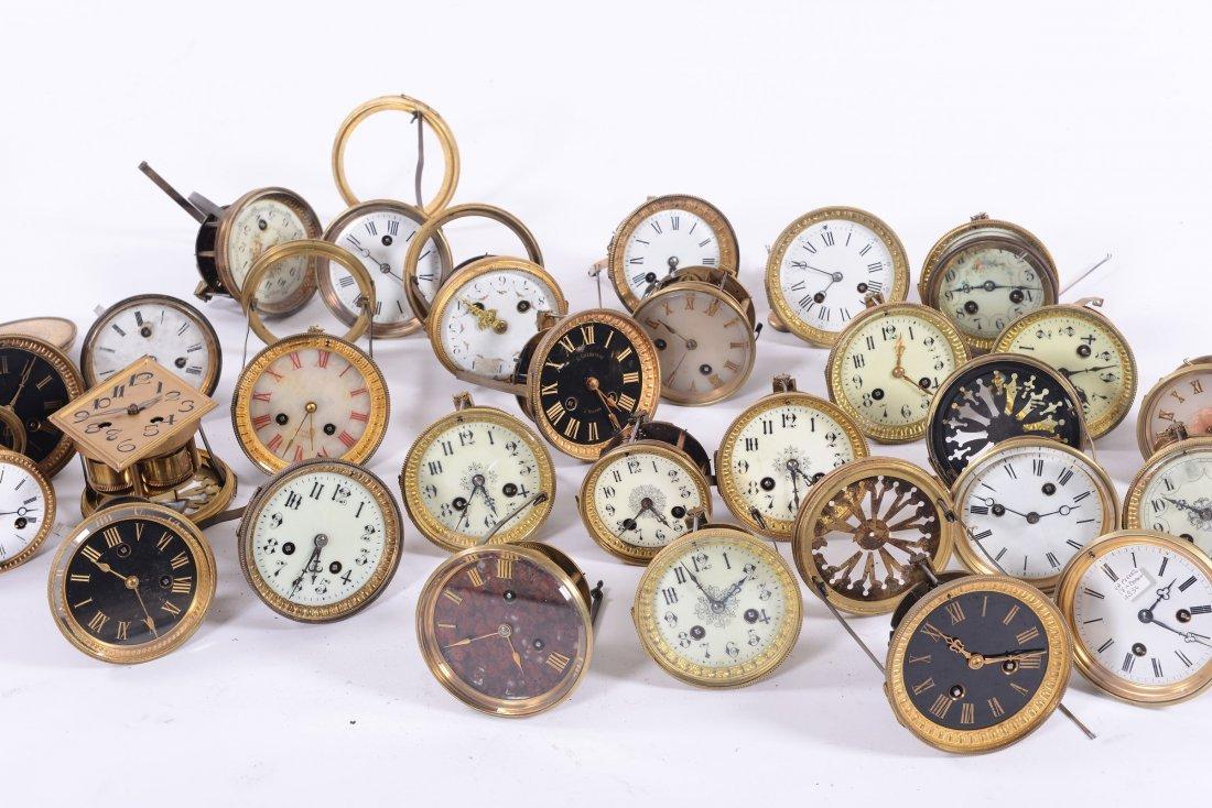 A Lot of 27 clock mechanisms - 2