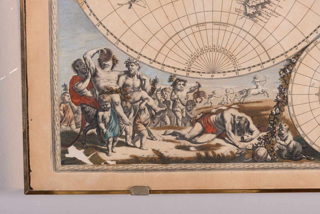 Planisfero terreste, edito da A.F. De Wit, XVIII - 2