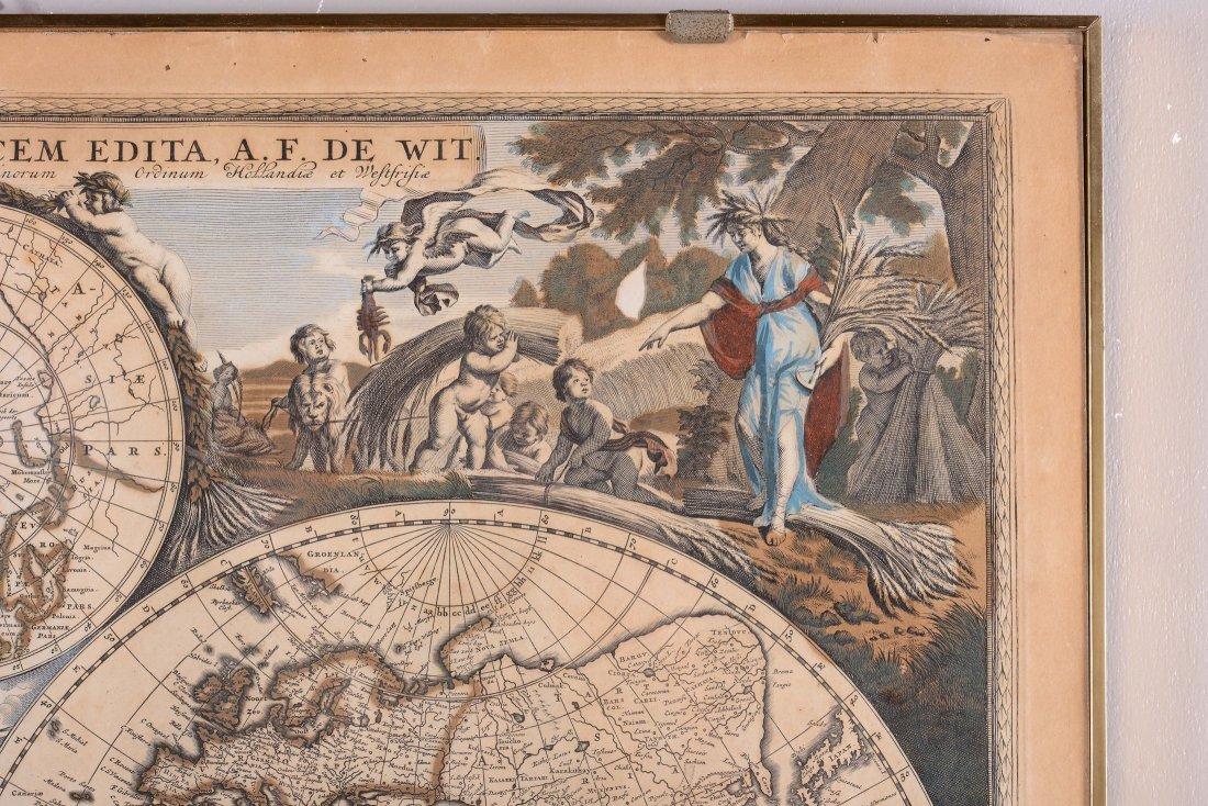 Planisfero terreste, edito da A.F. De Wit, XVIII - 3