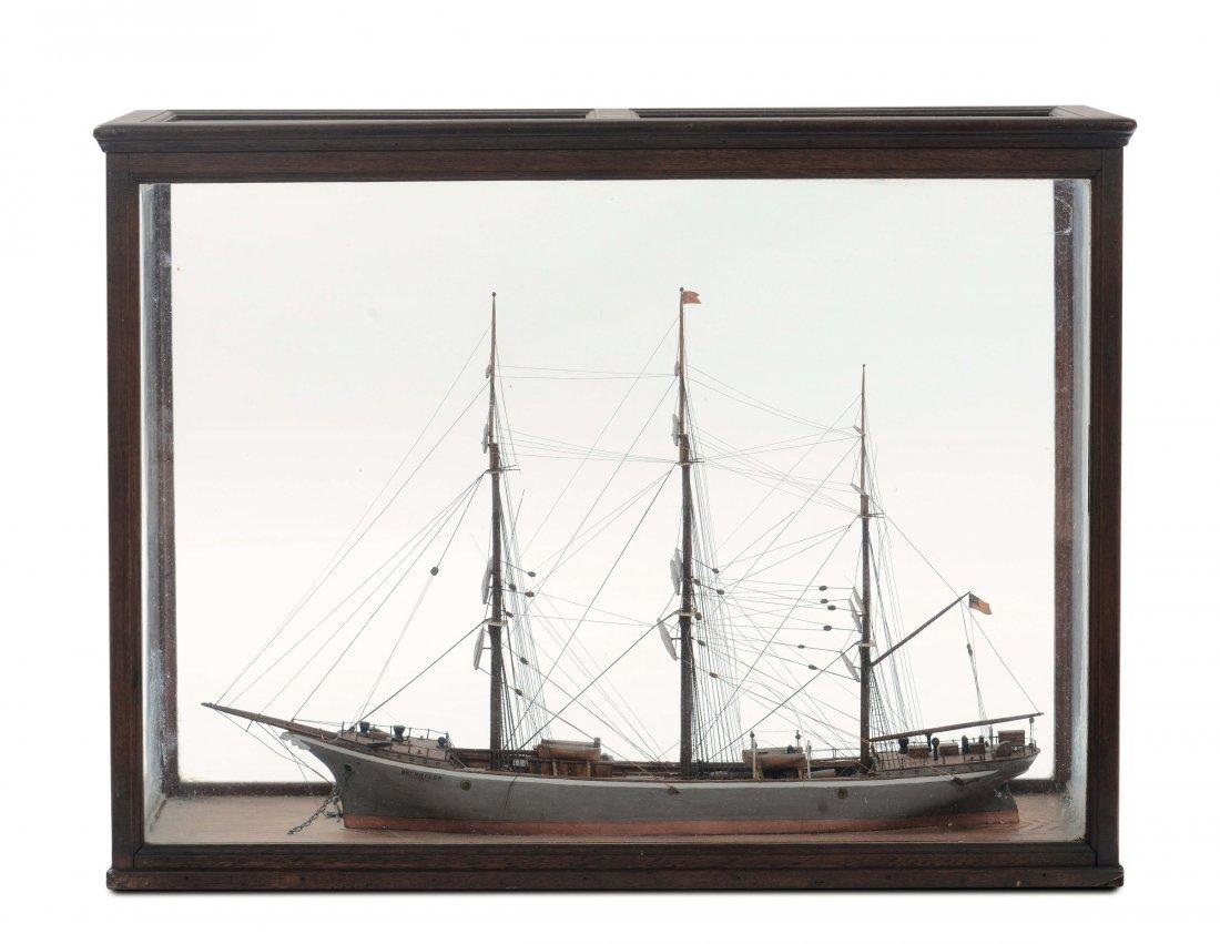 Modello in legno del brigantino Brynhilda, inizio XX