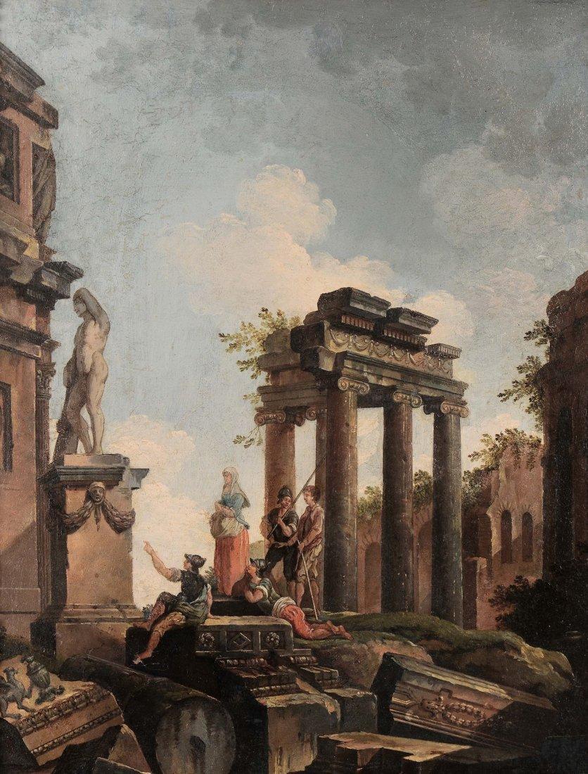 Giovanni Paolo Panini (1692-1765) seguace di, Paesaggi