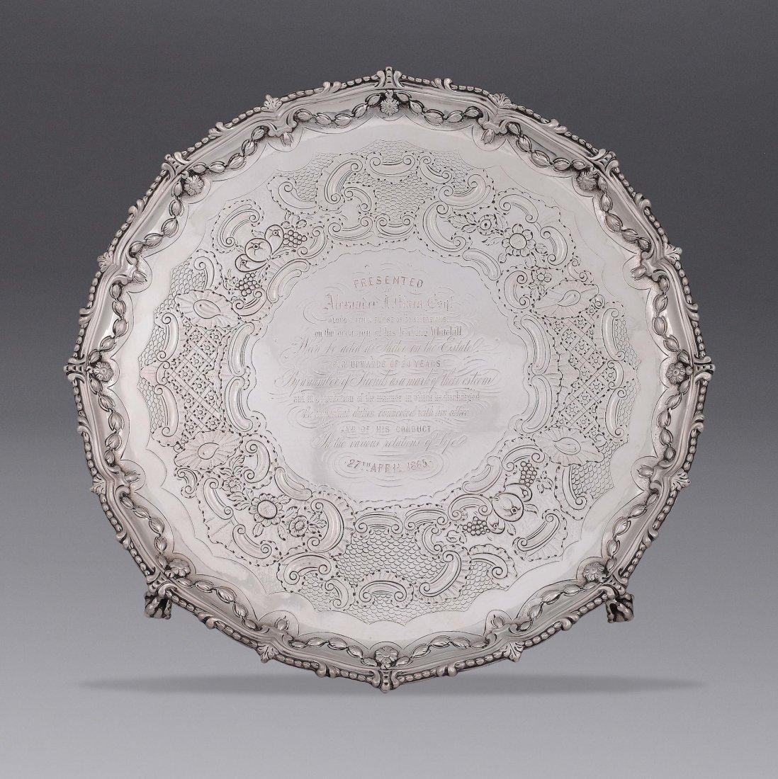 A silver Salver tray, London, 1771, maker John Carter