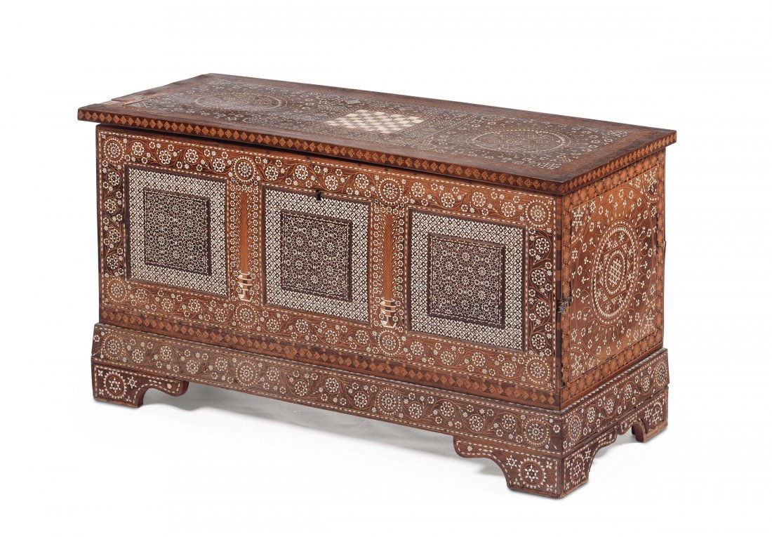 A Certosina style chest, Italy or Spain, 18th century