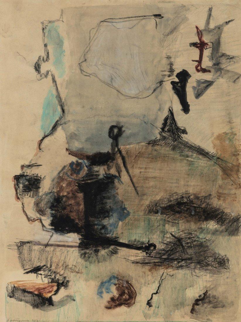 Giuseppe Santomaso (1907-1990), Composizione, 1957