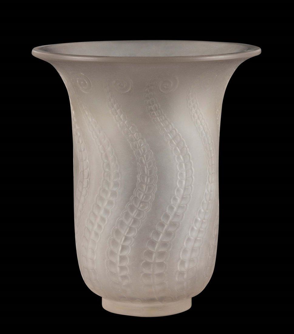 """René Lalique (1860-1945), France, """"Méduse"""" vase,"""
