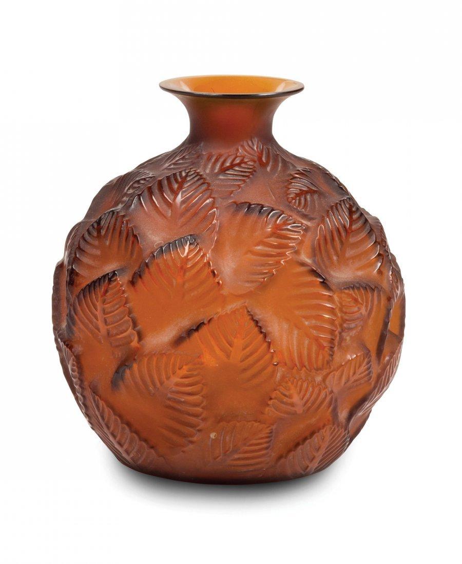 """René Lalique (1860-1945), France, """" Ormeaux"""" vase,"""