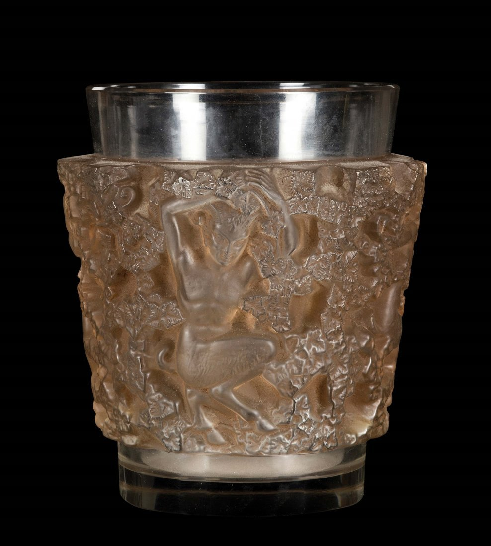 """René Lalique (1860-1945), France, """"Bacchus"""" vase,"""