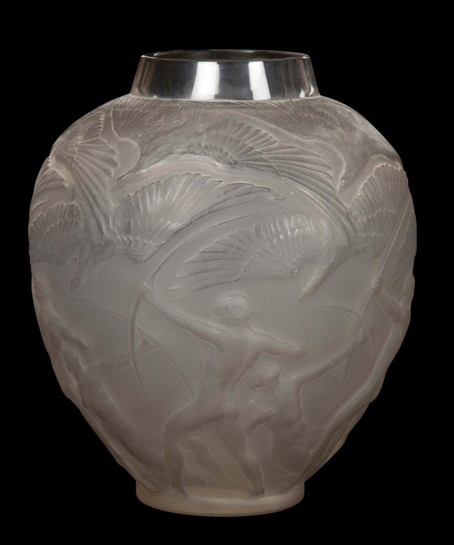 """René Lalique (1860-1945), France, """"Archers"""" vase,"""