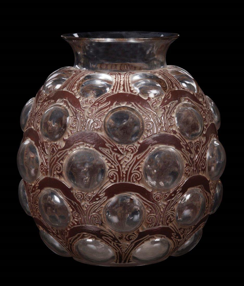 """René Lalique (1860-1945), France, """"Antilopes"""" vase,"""