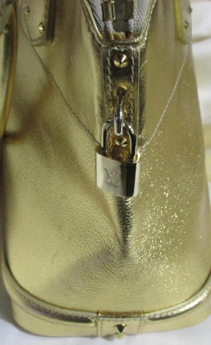 Louis Vuitton  Lockit Gold Leather Motif Bag - 2