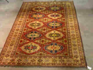 6: KAZAK CARPET.  Approx. 11 ft. 3 in. x 7 ft