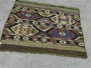 KALIM RUG. Approx. 3 ft. 8 in. x 3 ft. 3