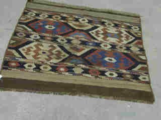 8: KALIM RUG.  Approx. 3 ft. 8 in. x 3 ft. 3