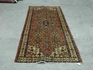 13: HAMADAN RUNNER.  Approx. 10 ft. 4 in. x 3