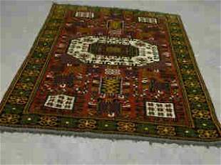 KAZAK RUG. Approx. 6 ft. 11 in. x 5 ft.
