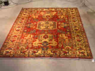 21: KAZAK CARPET.  Approx. 10 ft. 10 in. x 9