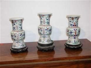 Three Japanese Vases