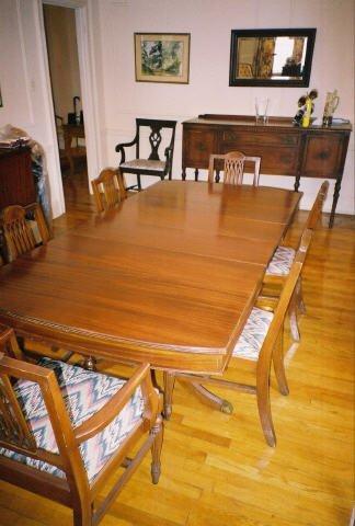 4005: Duncan Fife Mahogany Dining Room Table