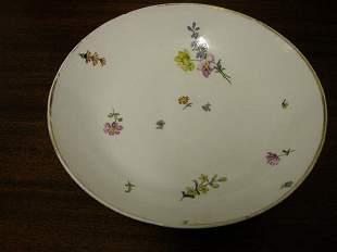 Meissen Dinner Plate with Gold Trim