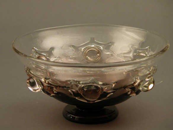 4021: Amethyst Pedestal Bowl