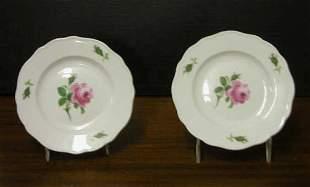 Meissen Rose Plates