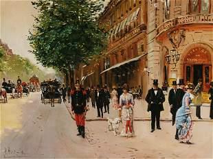 A. PETIT (Fr., 20th cent.) Boulevard des