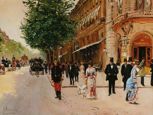 11: A. PETIT (Fr., 20th cent.) Boulevard des