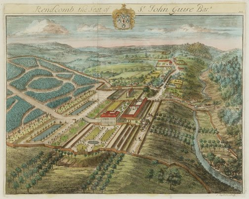 20: SIX HAND COLORED ENGRAVINGS OF GARDENS AN