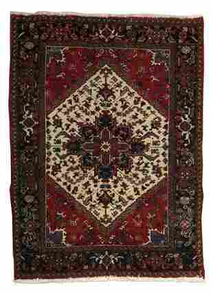 A MAZLEGHAN RUG, mid 20th century Appro