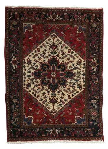 23: A MAZLEGHAN  RUG, mid 20th century  Appro