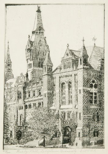 213: B. GETTIER (Am., 20th cent.) Healy Hall,