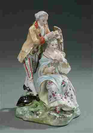 CONTINENTAL PORCELAIN GROUP OF A COUPLE B
