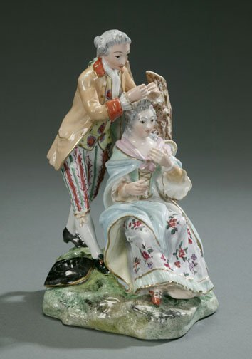 24: CONTINENTAL PORCELAIN GROUP OF A COUPLE B