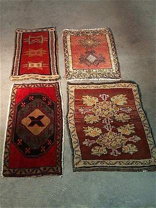 TURKISH YASTIKS, group of four (4), late