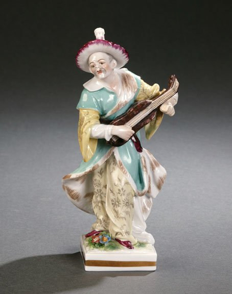 13: SEVRES STYLE CHINOISERIE FIGURE.  19th ce