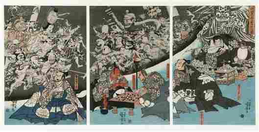 57: UTAGAWA KUNIYOSHI (Jap., 1786 - 1864)  Th
