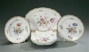 85 GROUP OF MEISSEN PORCELAIN DISHES  Late