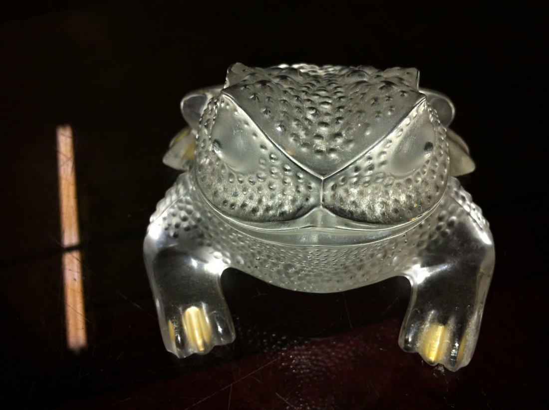 1001: Lalique Gregiore Frog Frosted