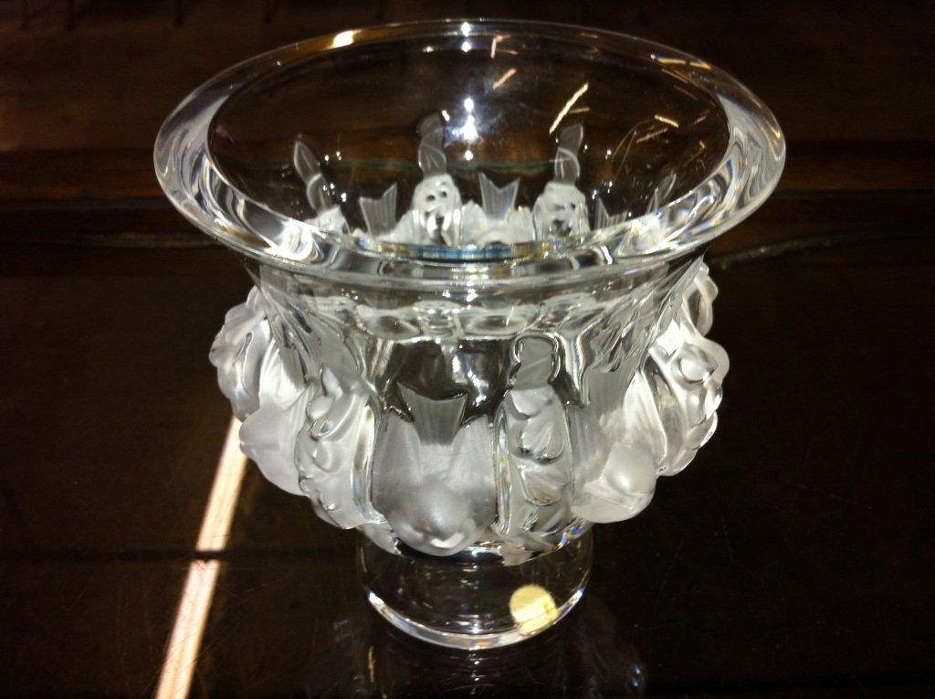 1008: Lalique Dampierre Footed Vase