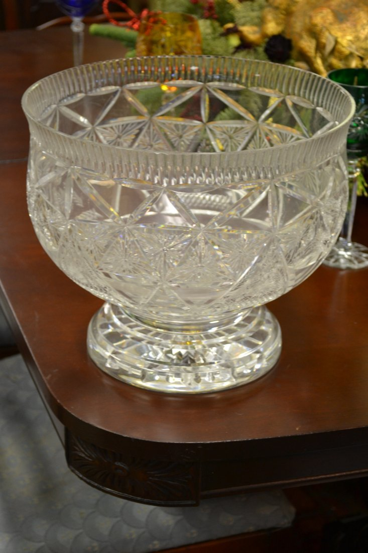 1016: Waterford Large Punch Bowl Marked Sample