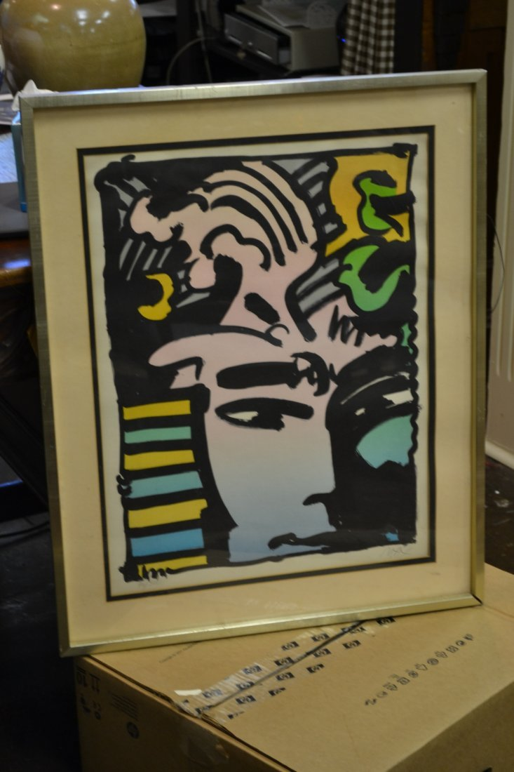 1018: Signed and Numbered Peter Max Lithograph Aztec Ma