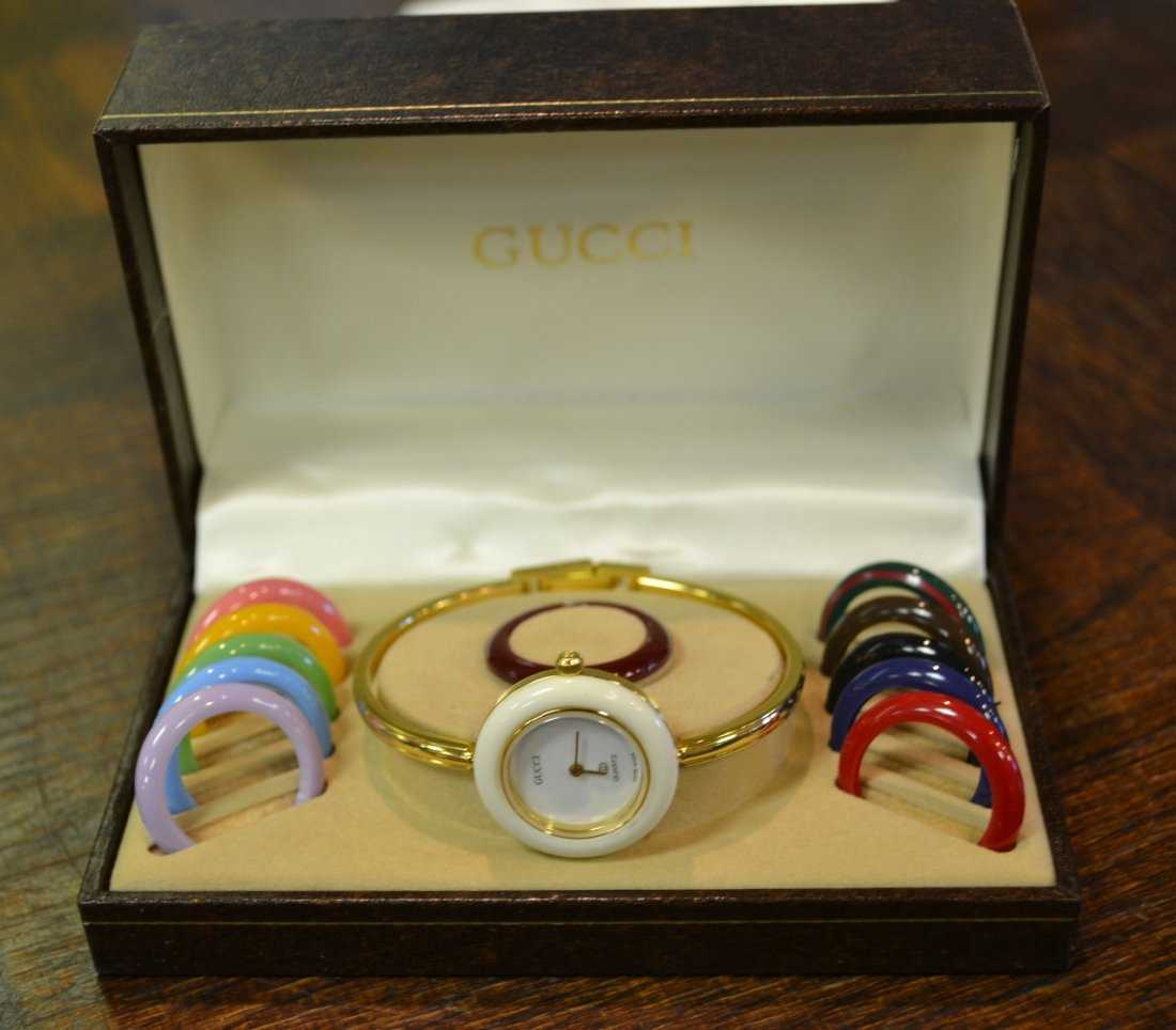 4b0cbe18fe5 1164  Vintage Gucci Watch with Bezel Set