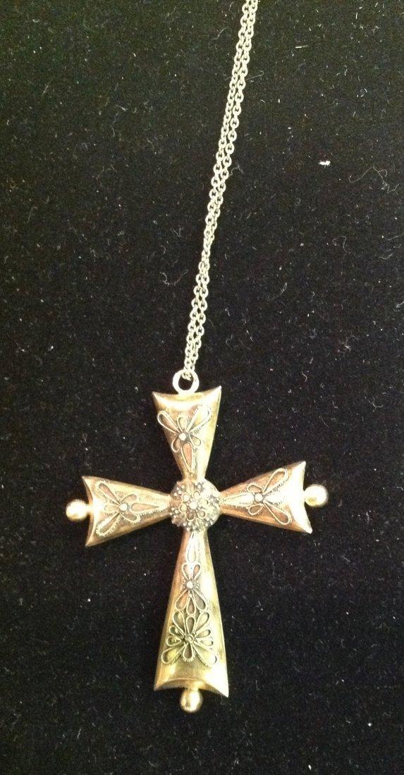 Antique18k Gold Cross on Chain. 5.4g